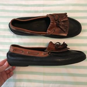 Cole Haan Country Men's Black Tan Leather Loafers